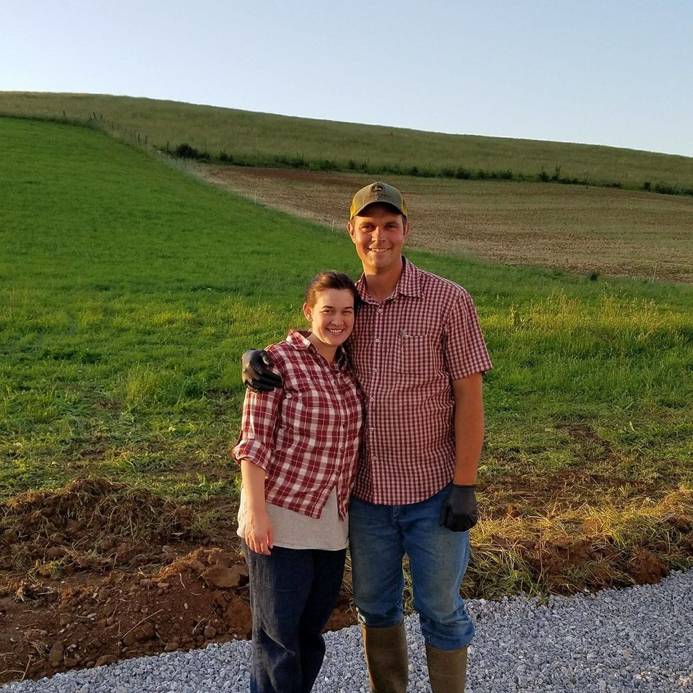 Ben and Kristen Beichler on the eve of the first milking at Creambrook Farm