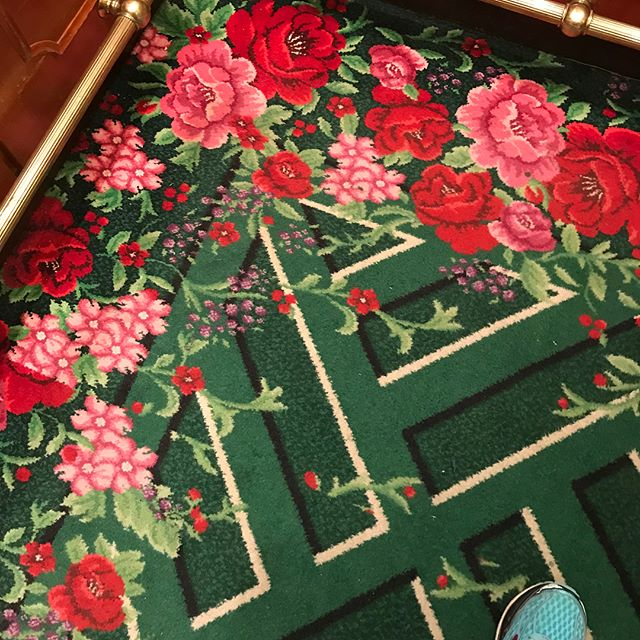 The many floors of Greenbrier curtesy of the great Dorothy Draper... #colorismagic #dorothydraper #interiordesign