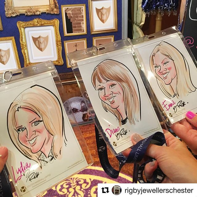 @rigbyjewellerschester at the #jolyonmarshall stand...the characters of recruitment ✏️💁🏻@master_jewellers #cmj #faceofthetrade #caricature