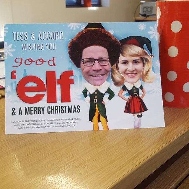 😂😂😂 thanks @tess_louise_goode @accordmarketing  for the most fabulous Christmas card yet 🎅🏽☃️🎄