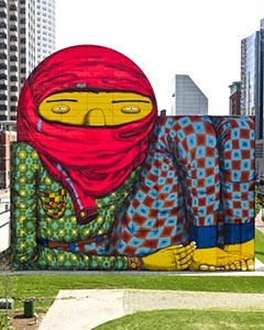 Os Gêmeos mural in Boston, MA
