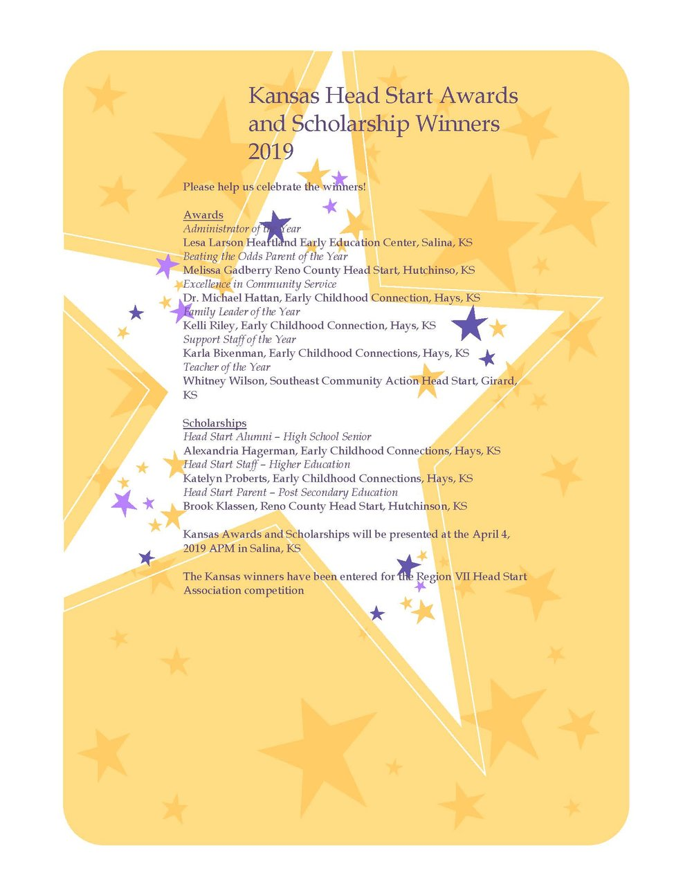 Kansas Head Start Awards and Scholarship Winners 2019.jpg