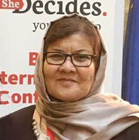 Mrs. Delbar Nazari, Minister of Women's Affairs (Afghanistan)   H.E. Delbar Nazari, was born in 1956 in in Samangan, a northern province of Afghanistan. Currently she works as the minister of women's affairs, representing and advocating for about 15 million Afghan women and girls' right at national and international levels like CSW61. Having extensive of professional gender experience at managerial and expert level with a public administration and international institutions like Oxfam, German Agro Action, UNICEF and General Directorate of Electronic ID Cards paved the ways towards women empowerment in Afghanistan. She also was selected as the Parliament Member by Samangan citizens to serve the country, especially women, from 2005 until 2010.