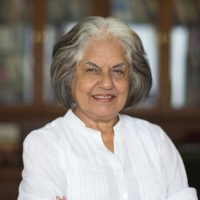 Indira Jaising, Human Rights Lawyer, Supreme Court of India.   Indira Jaising started her legal practice in the early 1960s. She was the first woman to be designated a Senior Advocate by the High Court of Bombay. Since the commencement of her career, she has been interested in Woman's Issues. She represented the Air Hostesses of Air India when they were seeking equality with the male pursers and equal pay for equal work. She fought the legal battle for Mary Roy a Syrian Christian Women who fought for equal inheritance rights. She represented Gita hariharian, a mother who challenged the Hindu Minority and Guardianship Act, which declared the father as the natural guardian of the children to the exclusion of the mother. The Supreme Court held that the mother was also the guardian of the child.    Indira has worked tirelessly on the issue of dowry deaths to protect women from violence in the home. She represented Saty Rani Chada whose daughter was murdered within a few months of her marriage.    Since then she worked to create a new law on Domestic Violence. The Government of India passed the Protection of Women From Domestic Violence Act in 2005. The new law gives to women for the first time a right to reside in the shared household and prevents them from becoming homeless when facing violence. It has helped many women get stop violence orders. Indira has worked on several environmental issues, to protect the beaches and coastlines of Goa from being constructed upon.    She was elected to represent India to the United Nations on the committee for the Elimination of all forms of Discrimination against women and served in that capacity from 2009 to 2012. She was the fist woman to be appointed Additional Solicitor General of India in 2009 and serves in that capacity till 2014 representing the Government in the Supreme Court of India. She is currently based in New Delhi.