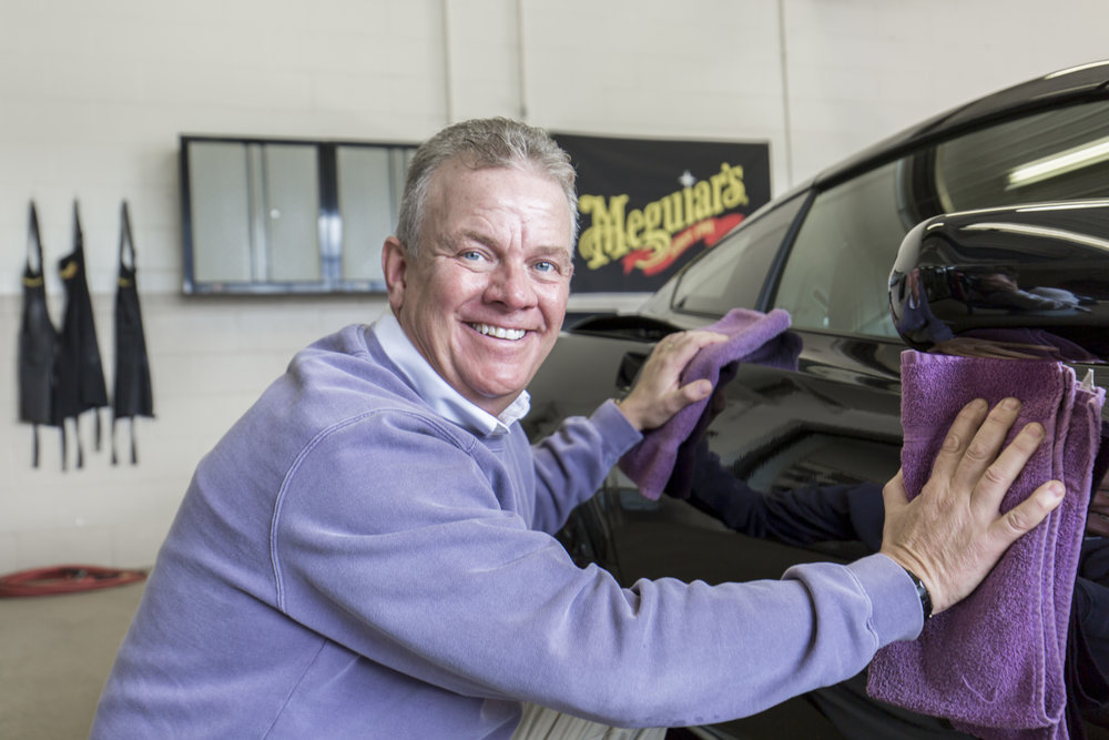 Clay Weber Buffing Car At CarBuff's In Wausau, WI
