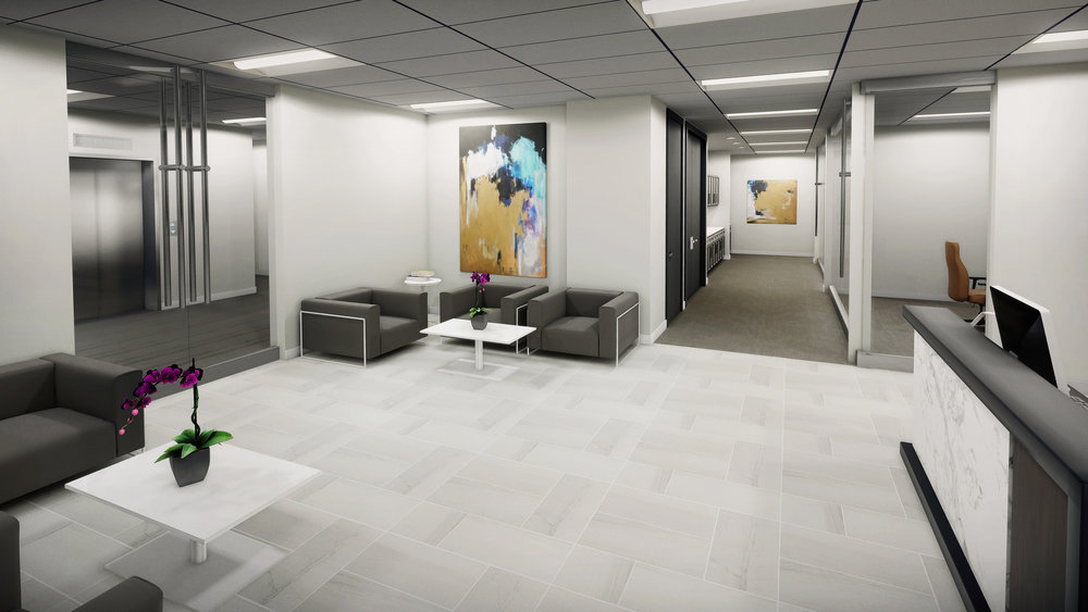 Lenox Park | Sample Design/VR Build - Reception View