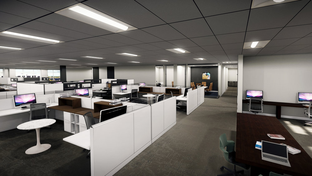 Lenox Park | Sample Design/VR Build - View into Open Office