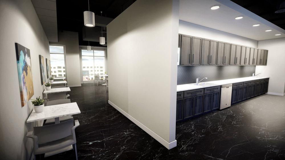 Lenox Park | Sample Design/VR Build - Break Room View