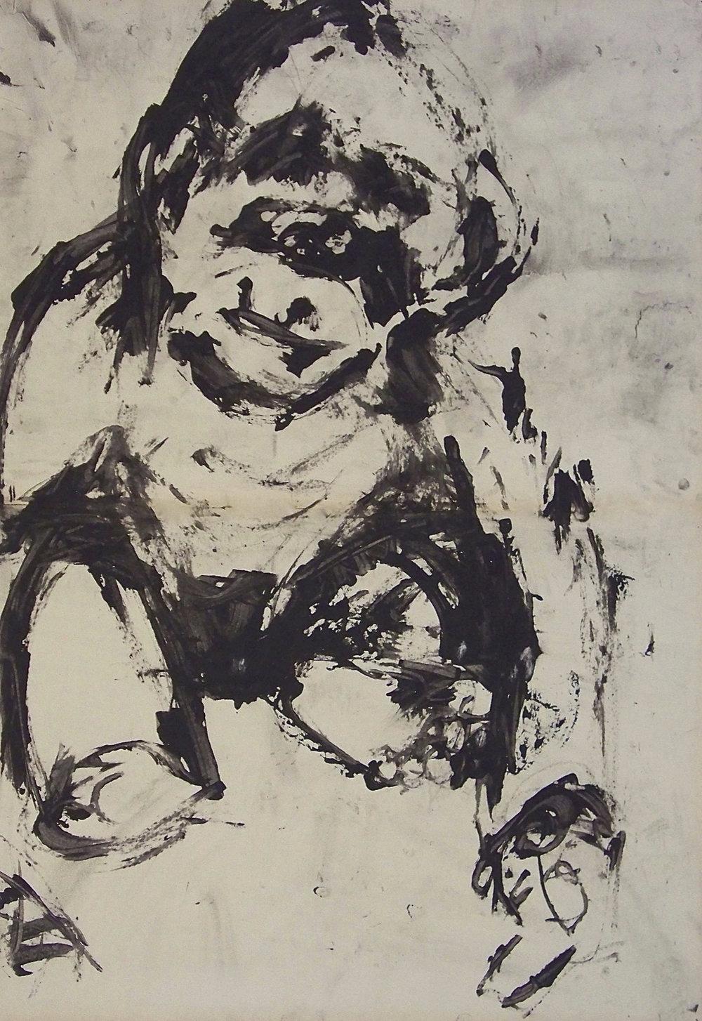 De la série «des gorilles et des hommes» 1