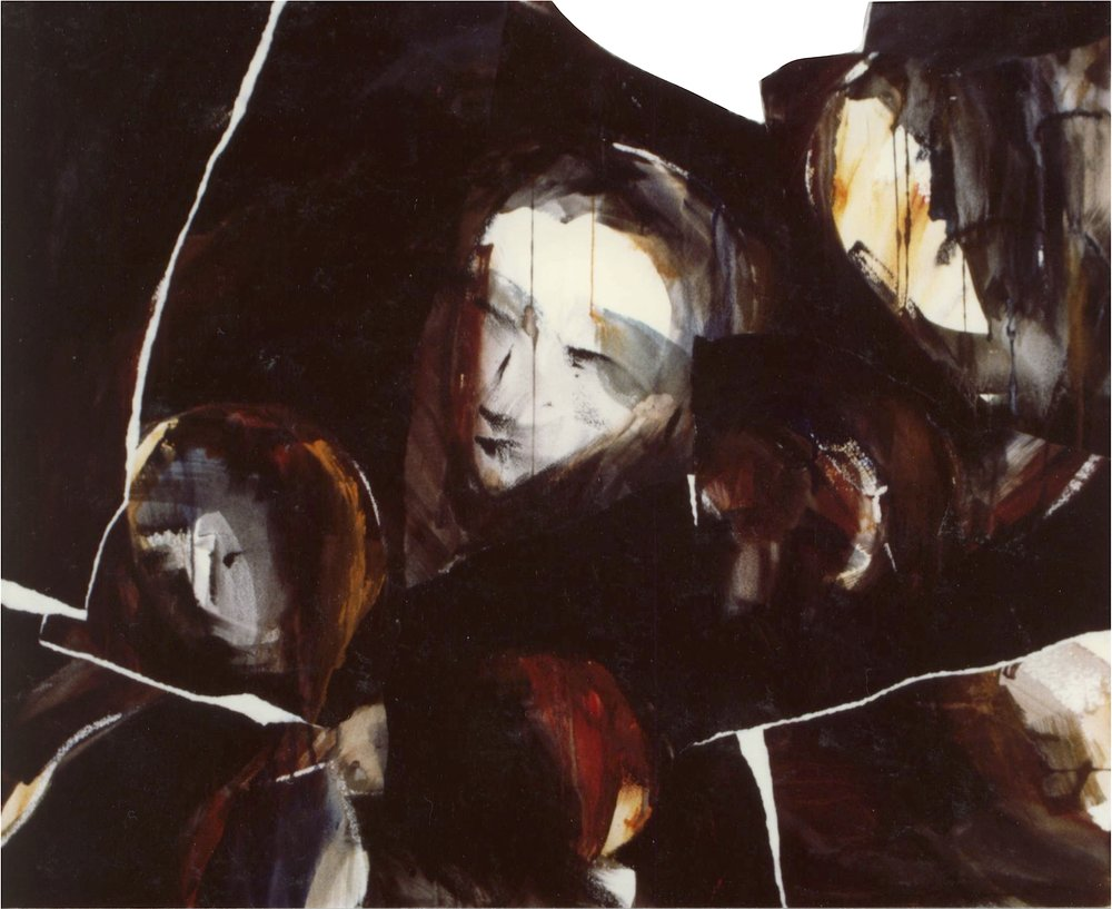 Déchirures, 1986. Technique mixte sur papier, collage, 71 x 83 cm.