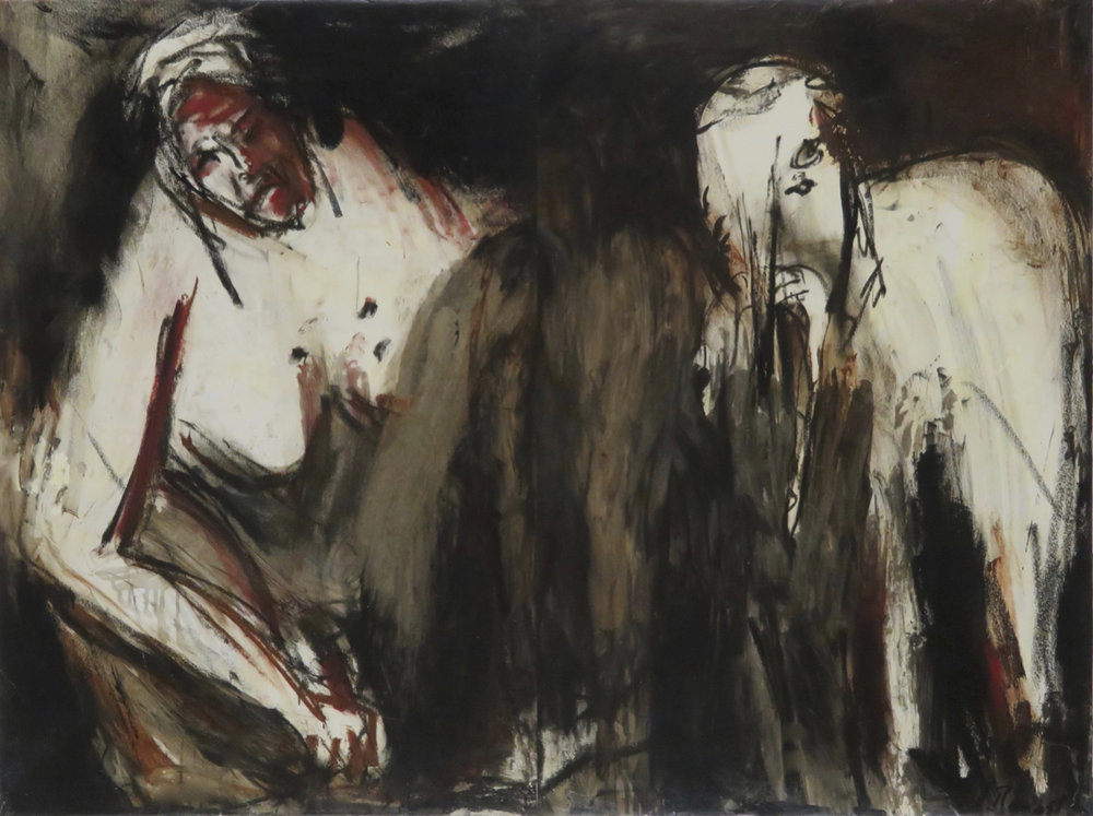 Droit de retour VI, 2000. Huile sur papier, marouflé sur toile, 68 x 94 cm.