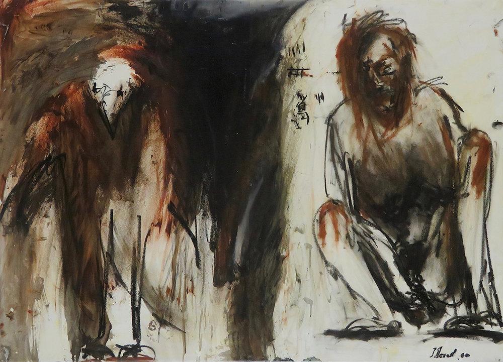 Droit de retour VIII, 2000. Huile sur papier, marouflé sur toile, 68 x 94 cm.