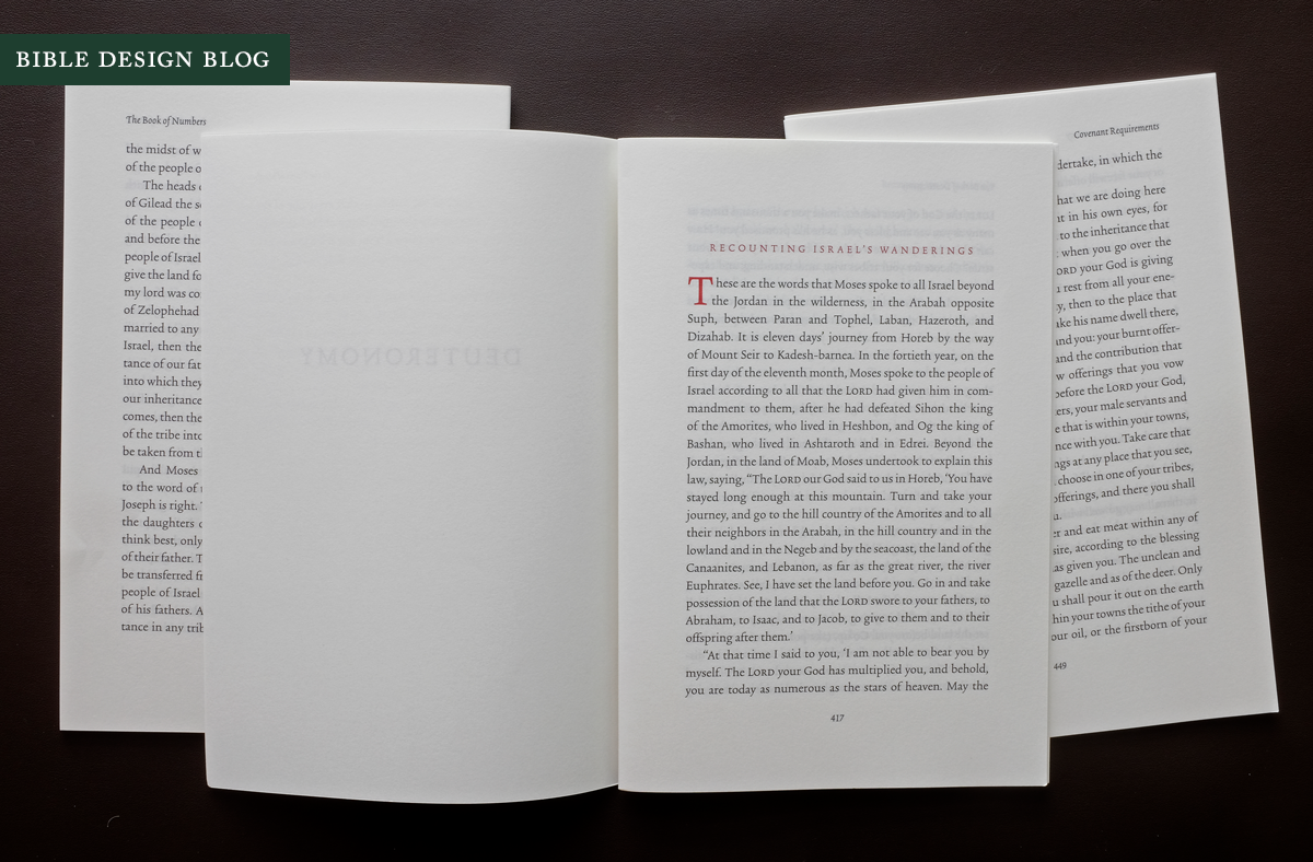 ESV Reader's Bible, Six-Volume Set<br>Part 2: Layout