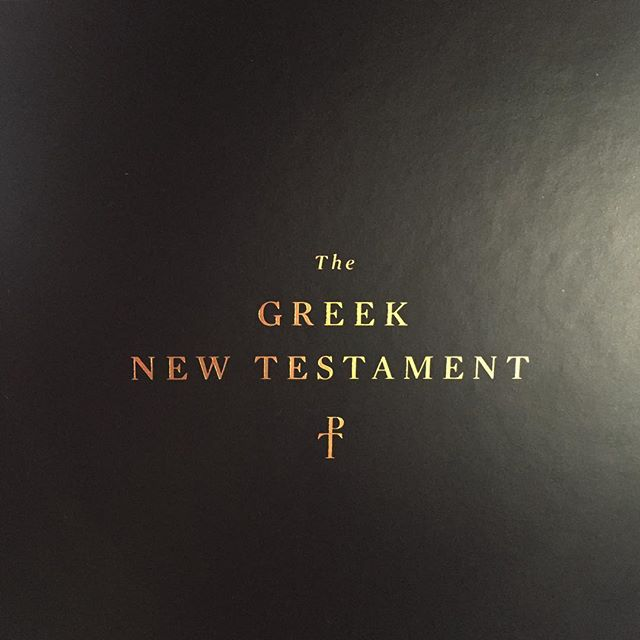 @crosswaybooks and @cambridgeuniversitypress have teamed up to produce a Greek New Testament ... I want one!