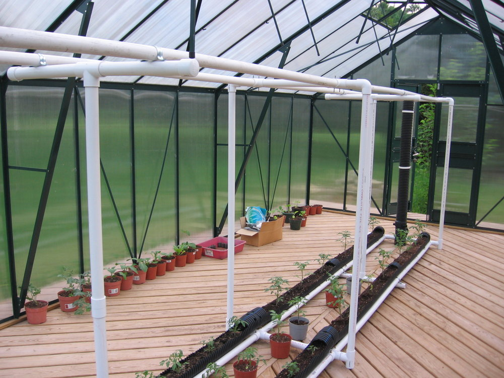 Greenhouse to start and nurse plants and trees -