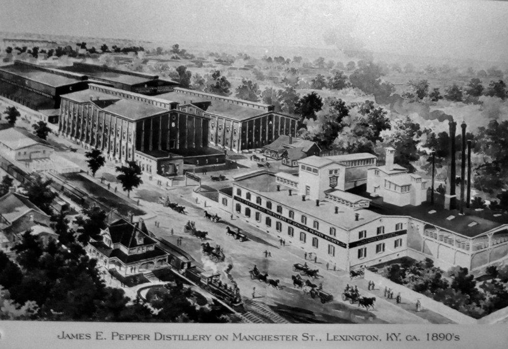 James E. Pepper Distillery Site, Lexington, KY ca. 1890s. Photo Credit: From the James E. Pepper Distillery Archives