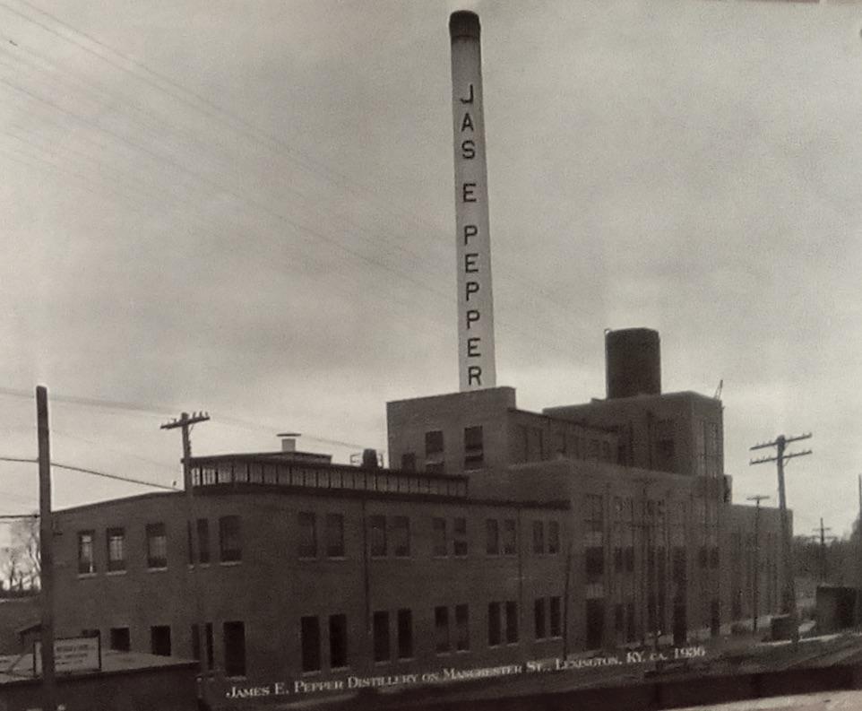 James E. Pepper Distillery Site, Lexington, KY 1936s. Photo Credit: From the James E. Pepper Distillery Archives
