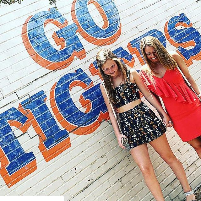 The countdown is on. Orange and blue outfits, toilet paper, shakers, lemonade and late nights. 5️⃣0️⃣ days until football season, y'all!🐅🏈 #wareagle #gotigers #auburnfootball #comehometothecorner #downtownauburn