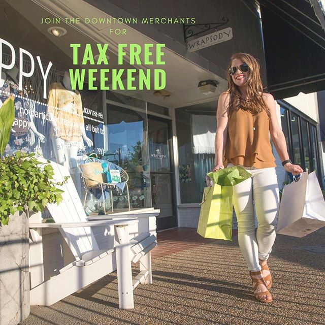 Come out and shop local for TAX-FREE weekend starting Friday, July 20th- Sunday, July 22nd. 🛍 #shoplocal #taxfreeweekend #downtownauburn