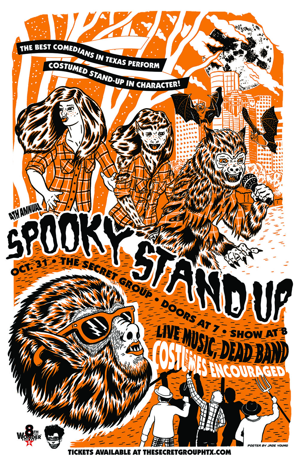 Spooky Stand Up Poster 2018