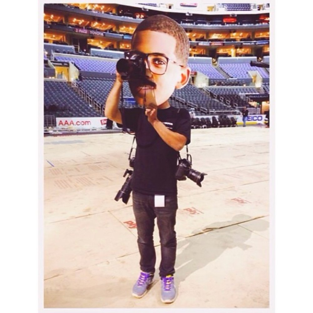Me at Staples Center, working very hard for ESPN the Magazine. (Photo by Jeff Gros @iamgros )