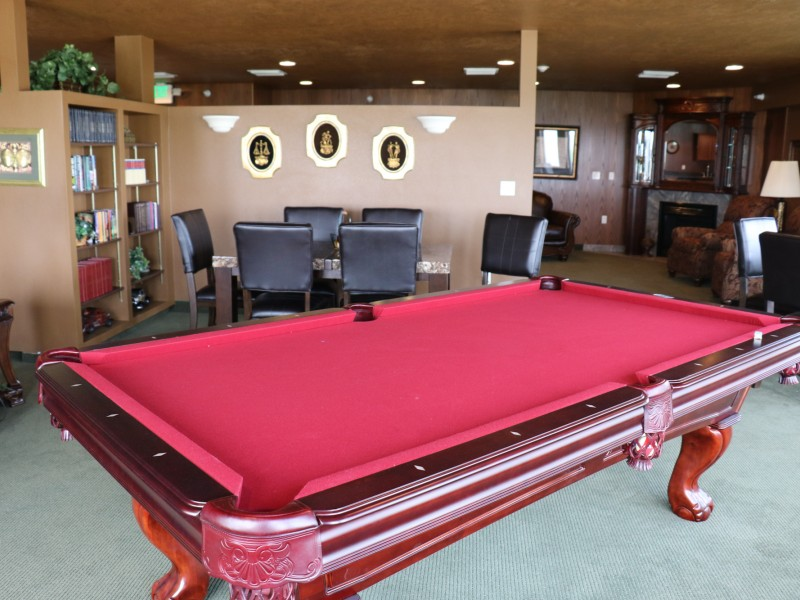 "Take Time for a Game of Pool at ""The Club"" at Somerset Court - Minot"