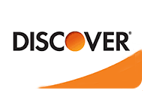 We accept Discover Card.