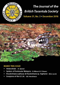 Journal of the British Tarantula Society 31(3)