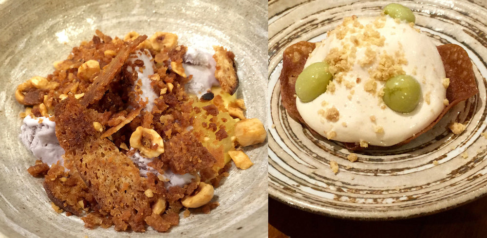 Peanut butter, and lemon and violet desserts - The Tame Hare