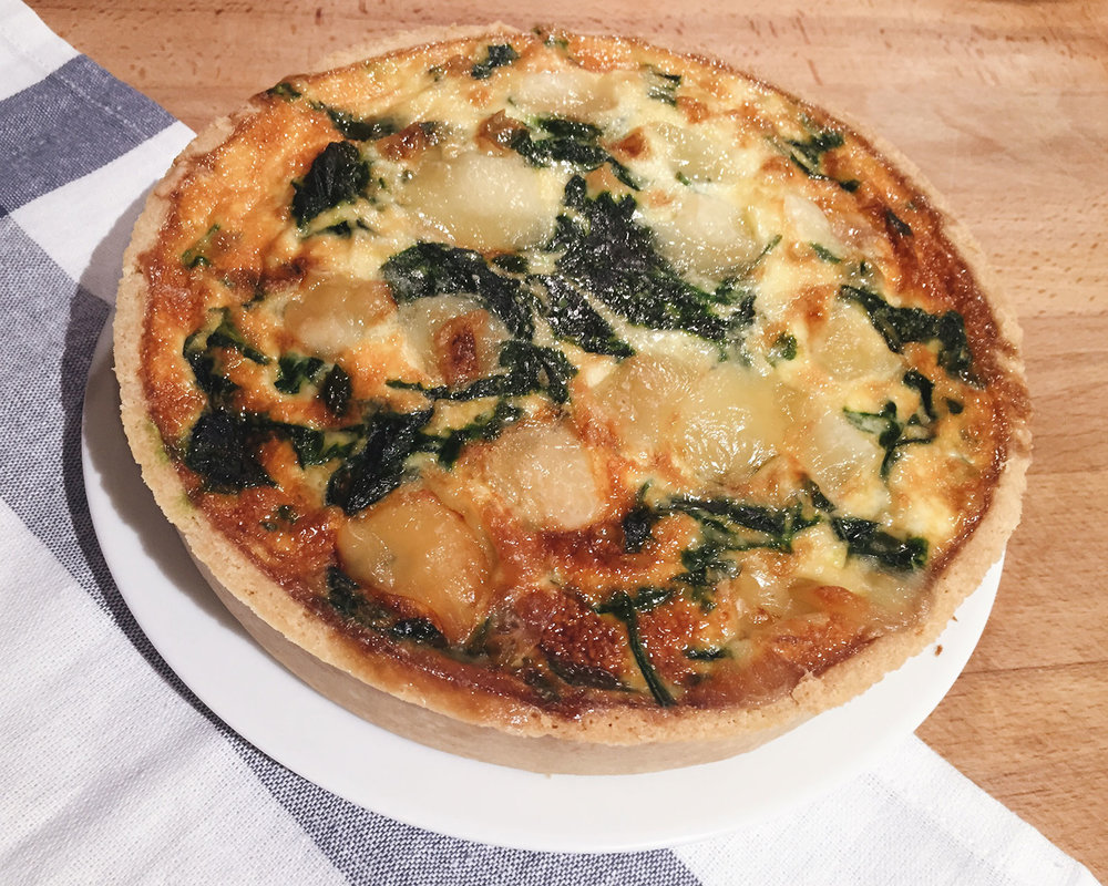 bacon goats cheese and spinach quiche