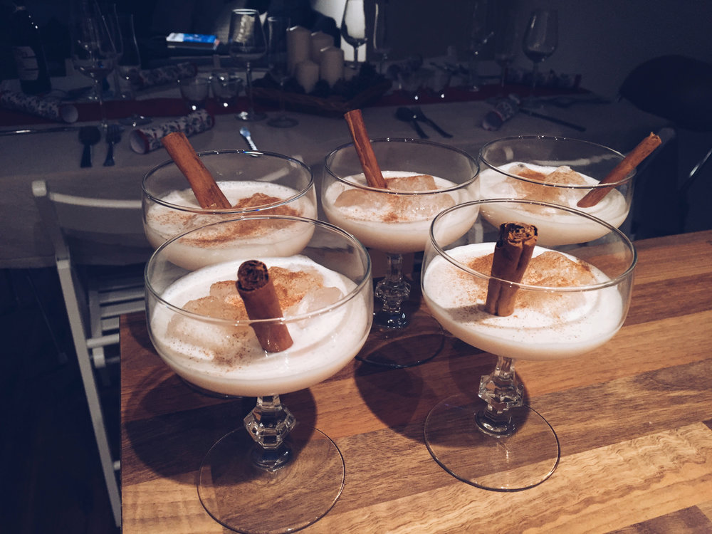 Christmas coquito cocktails