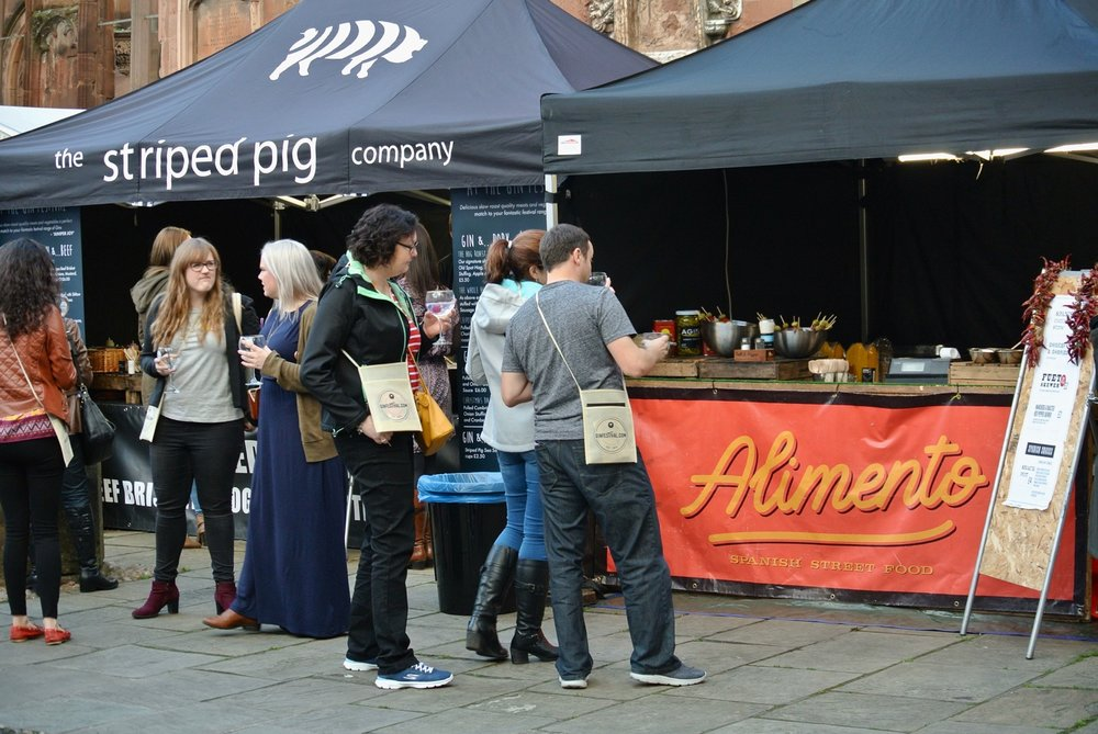 Gin Festival Coventry - Food Stalls: The Striped Pig Company and Alimento