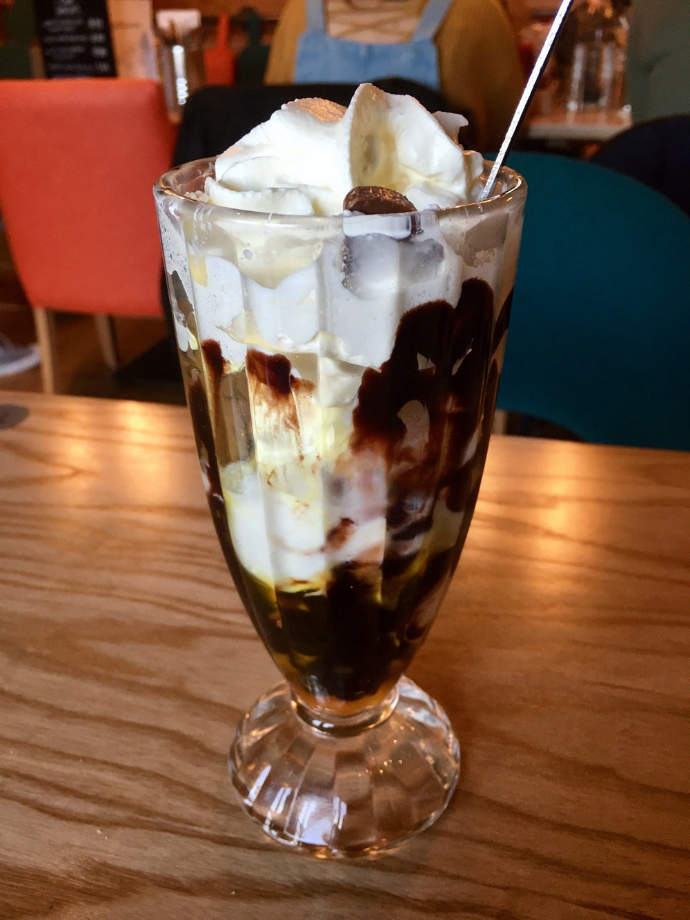 Oldbury Cookhouse and Pub Chocolate Orange Sundae