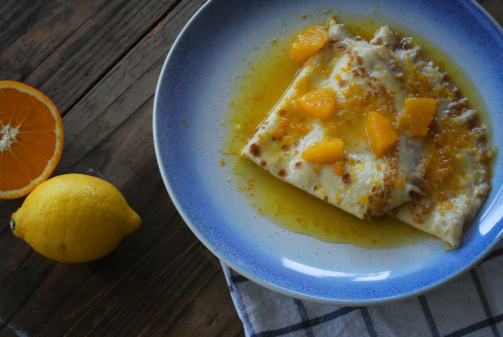 Crêpes Suzette - Pancakes in Orange Sauce