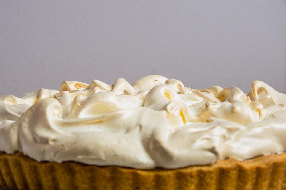 Lemon Meringue Pie Close Up