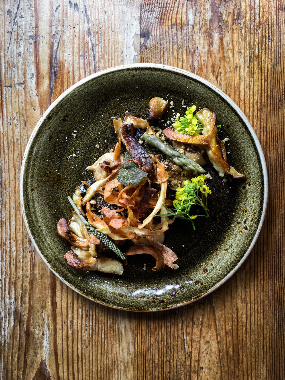 The Ethicurean Pan Fried Shiitakes with Smoked Mushroom Ketchup