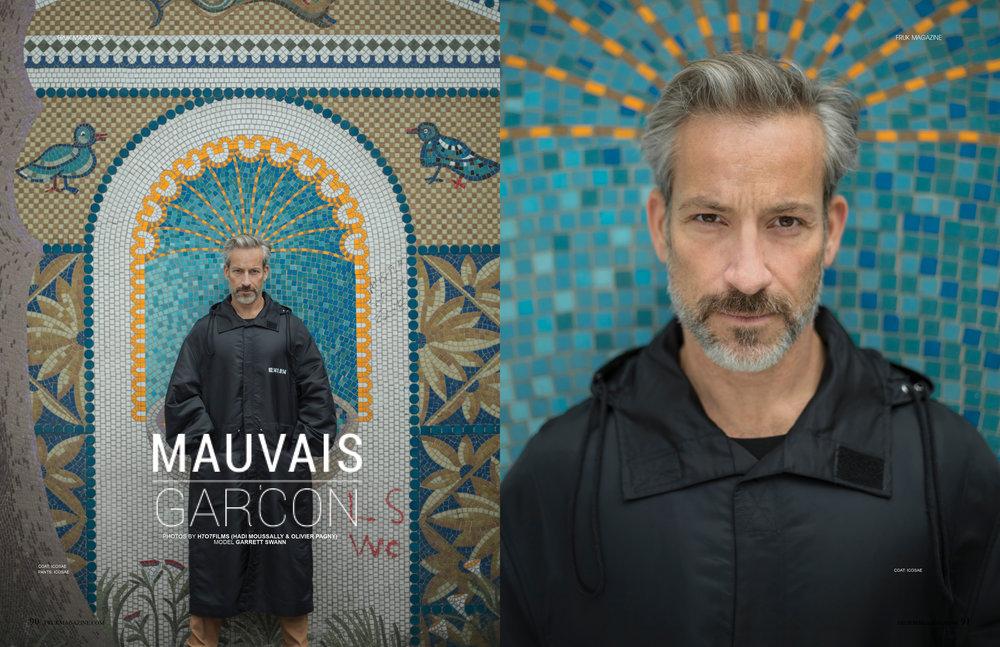 Mauvais Garçon FRUK Magazine photography + stylist Hadi Moussally + Olivier Pagny.h7o7 Films