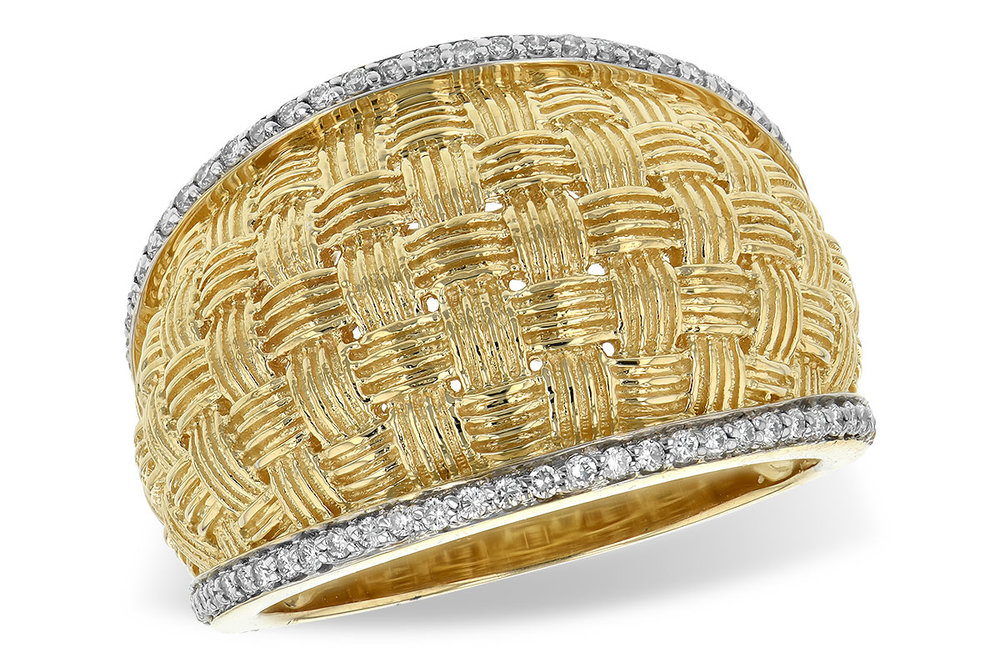 W1923  -  0.24 ct 14K Yellow Gold Ring.      List Price: $2,361      Our Price: $1,888