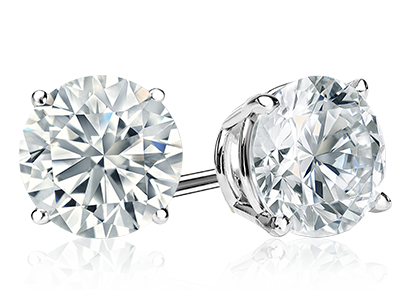 Diamond Studs -  Featured In 14K White Or Yellow Gold.  1/3 ctw Diamond Studs Starting At   $350    1/2 ctw Diamond Studs Starting At   $750    1 ctw Diamond Studs Starting At   $1,650    1 1/4 ctw Diamond Studs Starting At   $2,399    1 1/2 ctw Diamond Studs Starting At   $3,399