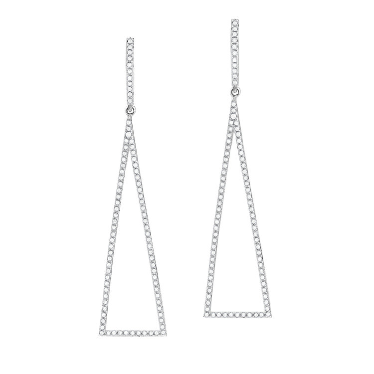 E10959B  - 0.54 ct Set In 14K White Gold Earrings.  List Price: $1,730    Our Price: $1,384