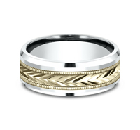 CF208003  - 8 mm 14K Yellow & White Gold Band.  List Price: $1,263    Our Price: $842