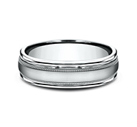 RECF7601S  - 6 mm 14K White Gold Band.  List Price: $1,032    Our Price: $688