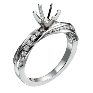S7759  -  0.60 ct Set In 14K White Gold.  List Price: $2,920    Our Price: $2,336