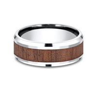 CF58489BKCC  - 8 mm Cobalt Chrome & Wood Grain Band.    List Price: $288       Our Price: $189