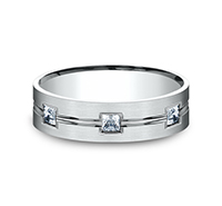 CF526828  - 0.60 ct Set In A 6 mm 14K White Gold Band.    List Price: $3,375      Our Price: $2,250