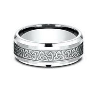 CF808357  - 8 mm 14K White Gold Band.     List Price: $1,320      Our Price: $880