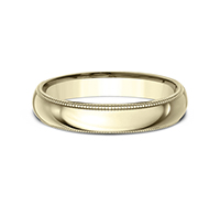 LCF340  - 4 mm 14K Yellow Gold Band.    List Price: $540      Our Price: $360