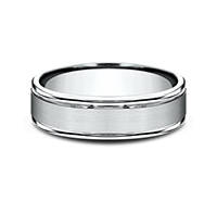 ***BEST SELLER***     RECF7602S  - 6 mm 14K White Gold Band.    List Price: $1,032       Our Price: $688