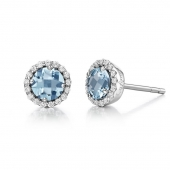 March Birthstone Stud Earrings  List Price: $135    Our Price $108