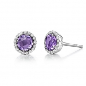 February Birthstone Stud Earrings.  List Price: $135    Our Price: $108